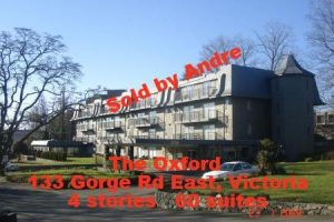 Apartment building with 60 suites at 133 Gorge Rd East in Victoria sold by Andre