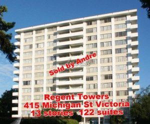 Apartment building with 122 suites at 415 Michigan St in Victoria sold by Andrement building; this building sold by André.