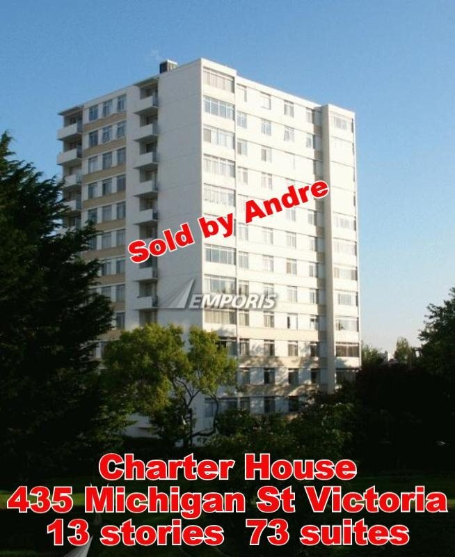 Apartment building with 73 suites at 435 Michigan St in Victoria sold by Andre