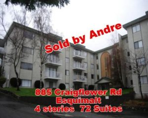 Apartment building with 72 suites at 885 Craigflower Rd in Esquimalt sold by Andre